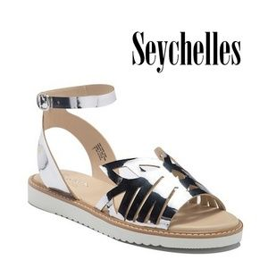 New SEYCHELLES Catnip Ankle Strap Leather Sandal 6